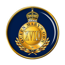 18th Royal Hussars (Queen Mary's Own), British Army Pin Badge
