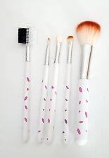 Pinselset 5teilig Kosmetik  Pinsel  Make-Up Set Gesicht weiß mit rosa