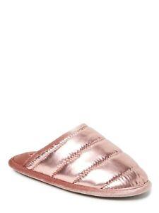 DF by Dearfoams Puffer Metallic Scuff Slipper with Memory Foam (Women's)