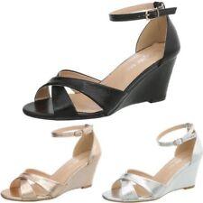 Glitzer Damen-Sandalen mit Keilabsatz Wedge günstig kaufen   eBay 5b9a28b32d