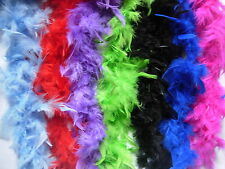 2M FEATHER BOA COSTUME ACCESSORY FANCY DRESS BURLESQUE SHOWGIRL DANCER 12 GOLOUR
