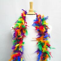 Perial Co Rainbow Chandelle Feather Boa Custom Dyed, Limited Color 72in Long