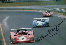 Arturo Merzario Firmato a Mano 12x8 FOTO FERRARI LE MANS 5.
