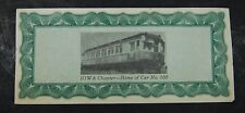 RARE   5 Stock shares for purchase of W.C.F. & N.interurban car #100    unusual