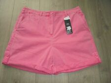 M&S MARKS & SPENCER BRIGHT PINK COTTON SHORTS UK SIZE 14