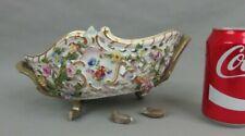 ancienne coupe corbeille ajourée en porcelaine de Meissen antique basket c1900