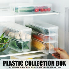 Plastic Fridge Food Storage Box Fruit Container Holder Kitchen Multi Layers 3-6L