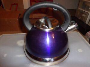 Alpine Stainless Steel Purple  Tea Kettle Pot