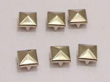 100 Silver Tone Metal Square Pyramid Claw Punk Stud Rivets 9mm Belt LeatherCraft