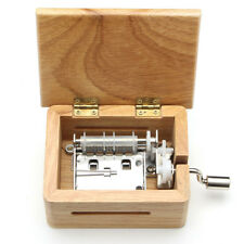 DIY Hand crank Wind up Music Box Wooden Box +Hole Puncher + Paper Tapes Gift