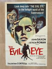 ORIGINAL Limited Numbered THE EVIL EYE US Poster Giallo Mario Bava