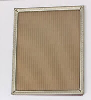 Antique Gold Metal Ornate Embossed Vintage Photo Picture Frame With White Accent
