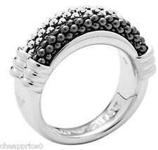 Emporio Armani TwoTone Textured Sterling Silver Ring Size 8 EG2879040