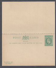 More details for fiji evii  postal stationery  reply card halfpenny green unused