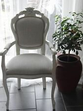 Fabric French Louis Style Chairs with 1 Pieces
