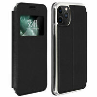 Window flip case, flip wallet case with stand for Apple iPhone 11 Pro Max Black