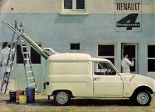 Renault 4 Fourgonette Van Mid 1960s French Market Sales Brochure