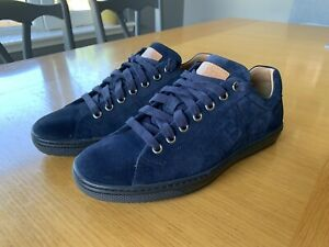 Bally Orivel 196 Blue Suede Leather Sneakers Shoes Uk 5.5,US 6.5,EU5.5 NEW