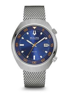 Bulova Accutron II Lobster Blue 96B232 UHF 262khz Sweep Seconds Watch