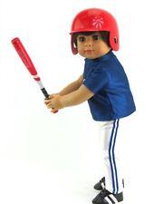 "Red Baseball/Softball Bat, Ball & Helmet Fits 18"" Dolls such as American Girl"