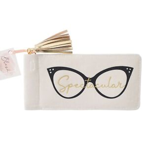 New Blush Spectacular Black Gold Glasses Sunglasses Spectacles Case