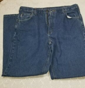 Carhartt Denim Blue Jeans Mens Sz 40x34 B167 DST Loose Fit EUC
