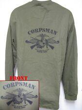 NAVY CORPSMAN FMF T-SHIRT/ DEVIL DOC/ LONG SLEEVE T-SHIRT/ MILITARY/ NEW