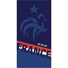 Cti 044919 FFF Nation Drap de Plage coton Bleu 150 x 75 cm