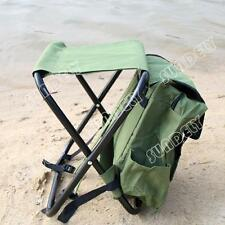 fishing stool road chair bag folding stool travel mountaineering bag Army Green