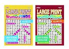 Large Print Word Search Puzzle Book Easy to Read Puzzles Books Vol 257  258 Set