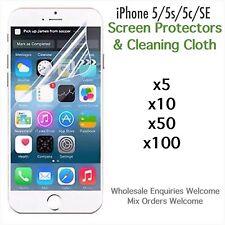 iPhone 5 5s iPhone 5c iPhone SE screen protectors and cloth wholesale job lot
