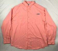 COLUMBIA peach PFG MENS XL omni-shade vented fishing long sleeve pink orange