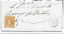 España. Carta con sello de 4 ctos y matasello RC 55 de Medina del Campo
