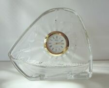 "SHIP 3.75"" Made in Japan Mikasa Crystal Glass CLOCK Brand New Box #Sunday Market"