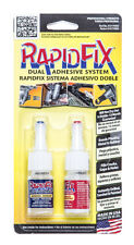 Rapid Fix 2x 10ml Dual Adhesive System Welding Powder Quick Drying
