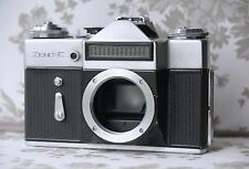 Zenit E body USSR SLR 35mm film camera KMZ M39 mount early fully WORKING