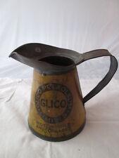 vintage Glico petroleum oil jug. Esso. Shell. BP. garage equipment.