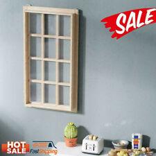1:12 Dollhouse 12-pane Wooden Window Frame Miniature Houses Brand Doll