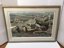 Robert BATEMAN Gentoo Penguins and Whale Bones, Signed Ltd. Ed. Print 825/950