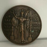 1940's Territorial Army Rifle Association Bronze Medallion No Inscription 38 mm