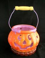 Halloween Pumpkin Jack O' Lantern Ceramic for Candle Holder or Candy Jar
