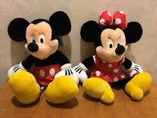 Walt Disney World Mickey Mouse & Minnie Mouse Plush With Tags