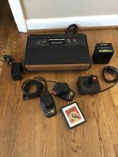 Atari 2600 Woodgrain 4-Switch Console Video Game System Bundle Tested!!