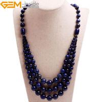 Handmade 8-12mm Gemstone Beaded Fashion Long Necklace For Women Gift 19 Inch UK