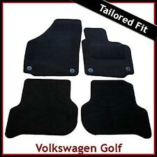 VW Golf Plus 2005-2013 Round Eyelets Fully Tailored Carpet Car Floor Mats BLACK