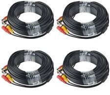 Xvim 4 x 100 ft Video Power Cable Surveillance Security Camera Cctv Bnc Rca Cord