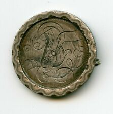 ARTWORK OLD COUNTER STAMPED LOVE TOKEN ON A 1877 US SILVER SEATED HALF DOLLAR