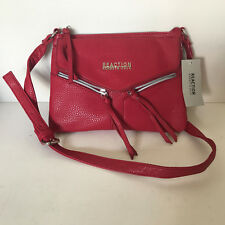 NEW! KENNETH COLE REACTION COLUMBUS BAKED APPLE RED CROSSBODY SLING BAG $45 SALE