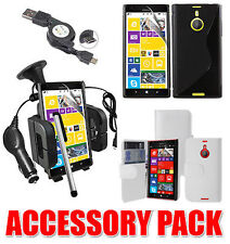 7 X ACCESSORY BUNDLE KIT FOR NOKIA LUMIA 1520 AND CASE COVER CAR HOLDER CHARGER