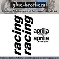 Aprilia Racing Aufkleber Set Motorsport Decal Sticker Motorrad Farbauswahl